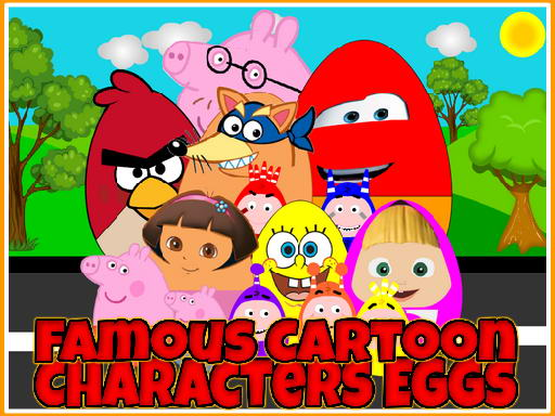 Famous Cartoon Characters Eggs