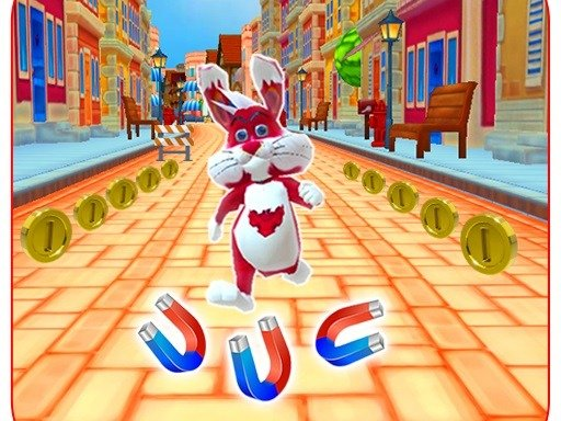 Subway Bunny Run Rush Rabbit Runner Game